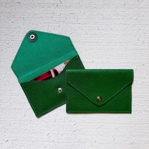 Porta Cartão Envelope - Verde Bandeira