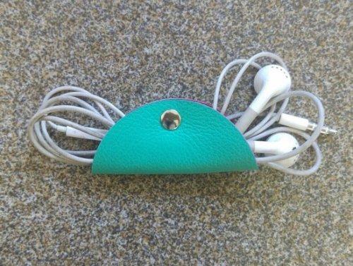 Porta Fone de Ouvido - Azul Turquesa