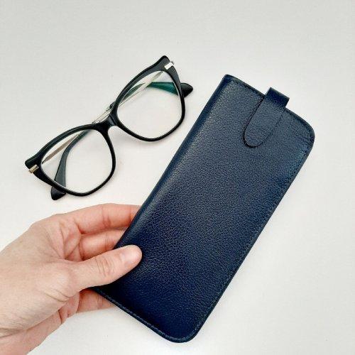 Porta Óculos - Azul Marinho