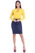 Miniatura - Camisa de Viscose Com Amarração Amarela  Via Tolentino