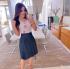 Miniatura - Saia jeans plissada Hadaza