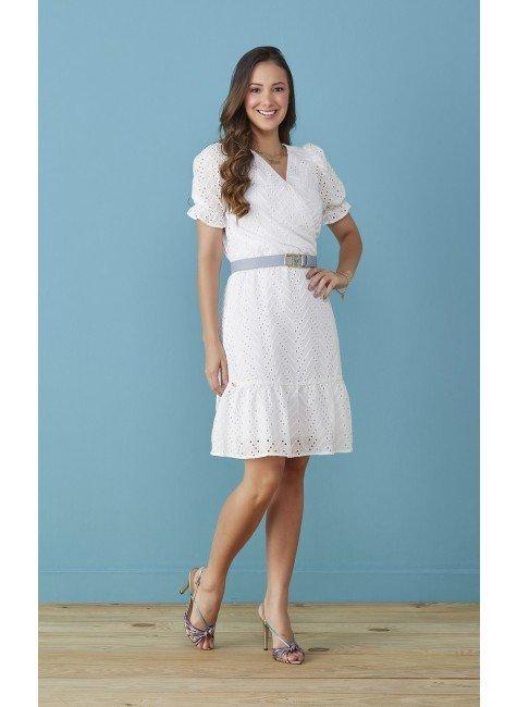 Vestido Angela Branco Tata Martello