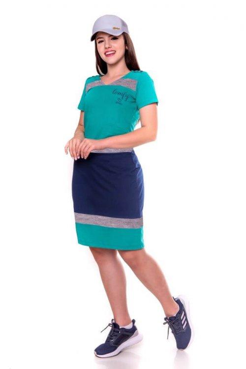 Vestido de malha de algodão com recortes Hadaza