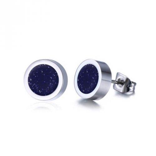 Brinco Masculino Botão Laqueado Espacial 1 Par - BR14