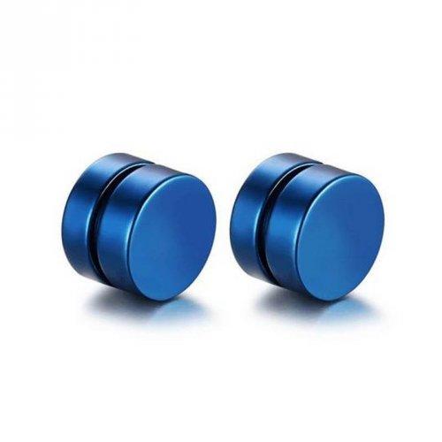 Brinco Masculino Magnético Imã Alargador Falso 8mm Azul - BR06