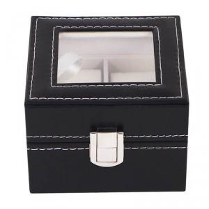 df2fd7ce8fd Caixa Para 2 Relógios ou Pulseiras Em Couro Sintético e Tampa de Vidro