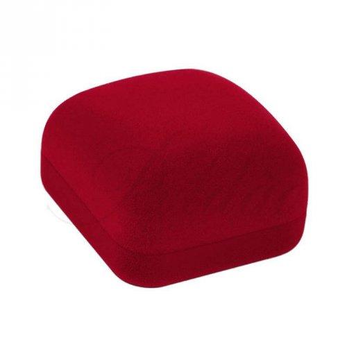 Caixa de Veludo Para Brincos Quadrado Vermelho - EG05