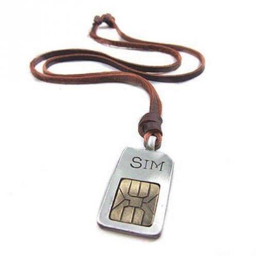 Colar Masculino de Couro Chip Sim - CC40