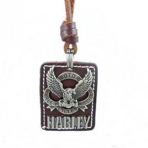 Colar Masculino de Couro Harley-Davidson - CC26