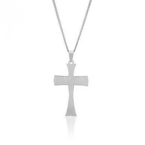 Corrente de Aço Escovado Cruz da Ressurreição - CA24