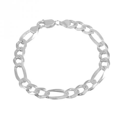 Pulseira de Prata 925 Masculina Diamantada 3x1 7mm