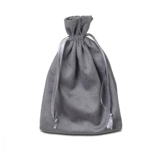 Saco de Presente Em Suede Cinza 10 x 15 cm Para Jóias