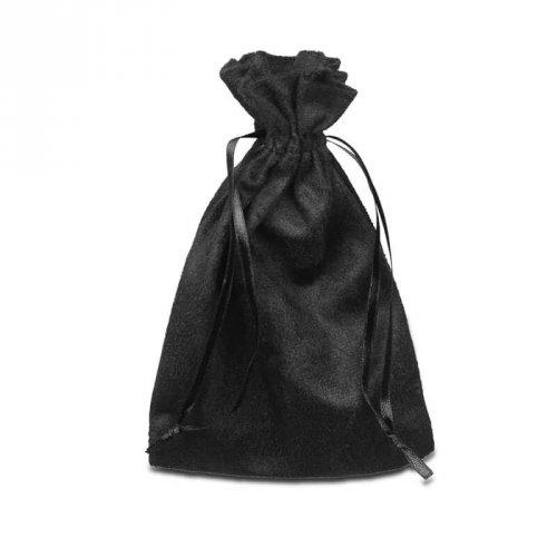 Saco de Presente Em Suede Preto 10 x 15 cm Para Jóias