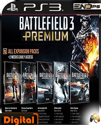 Dlcs - Premium para Bf3 - Ps3