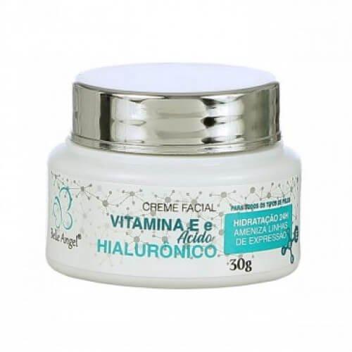 Belle Angel Creme Facial com Ácido Hialurônico e Vitamina E