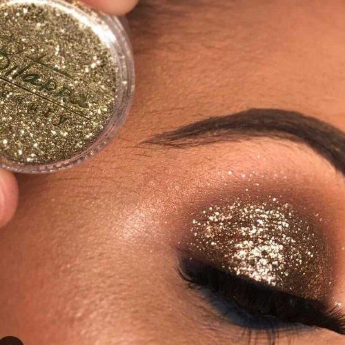 Bitarra Beauty COR 119 / GL 13 Golden Shine Glitter Sombra Asa de Borboleta (Pigmento / Glitter)