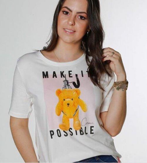 Corina T-Shirt Estampada Off Urso