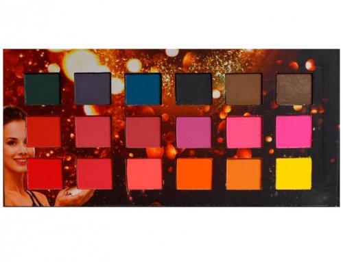 Ludurana Paleta de Sombras Matte Quadrada - 18 cores