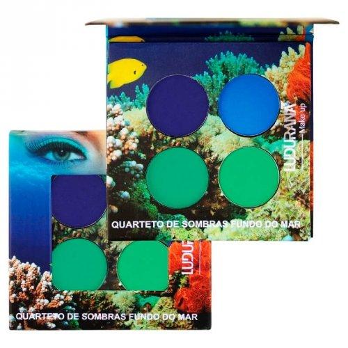 Ludurana Paleta de Sombras Matte Quarteto Fundo do Mar