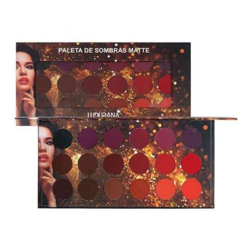 Ludurana Paleta de Sombras Matte Redonda - 18 cores