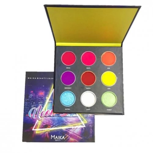 Maika Beauty Paleta de Sombras Neon Beats