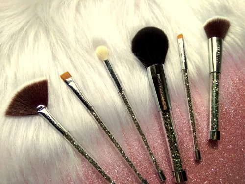 Miss Frandy Kit 06 Pincéis Profissionais para Maquiagem Strass Glam