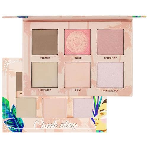 Ruby Rose Paleta Cheek Play (Blush/Iluminador/Contorno) HB7502