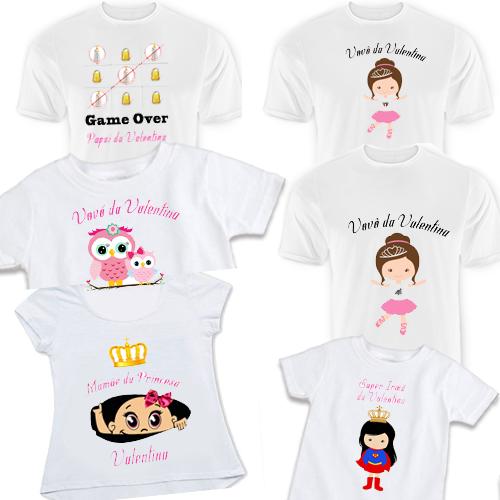 2ca67e7271 Kit 6 Camiseta Família Chá de Bebê