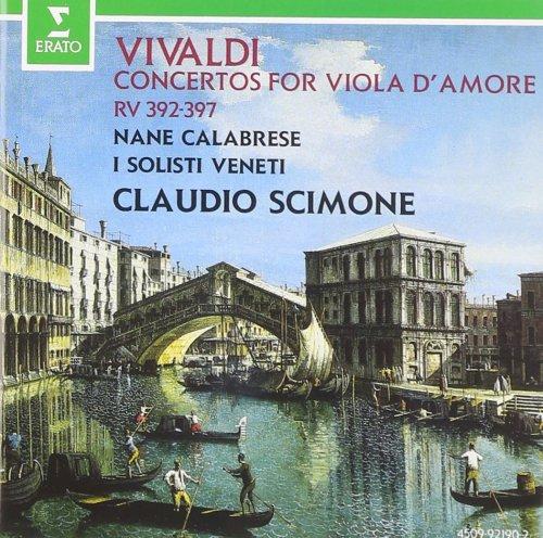 CD ANTONIO VIVALDI - CONCERTI FOR VIOLA D'AMORE - CLAUDIO SCIMONE