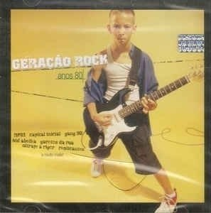 CD GERAÇÃO ROCK ANOS 80 - VÁRIAS BANDAS