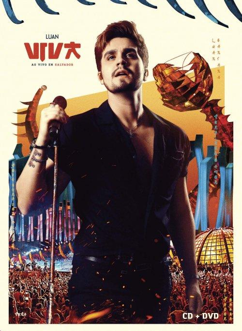 DVD LUAN SANTANA -VIVA - AO VIVO EM SALVADOR - KIT COM DVD+CD