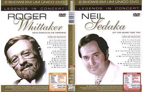 DVD NEIL SEDAKA / ROGER WHITTAKER - LET THE MUSIC TAKE YOU / NEW WORLD IN THE MORNIN
