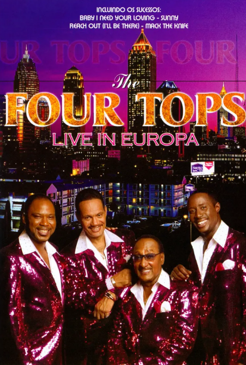 DVD THE FOUR TOPS - AO VIVO NA EUROPA 1970