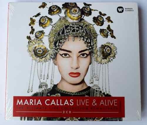 CD MARIA CALLAS - LIVE & ALIVE - DIGIPACK - (DUPLO - 2 CDS)