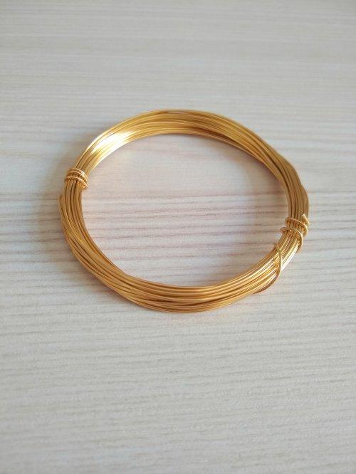 Arame Dourado 0,7mm - 5 Metros