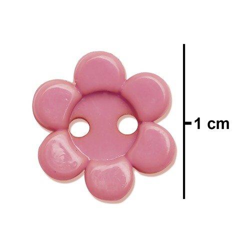 Botão Margaridinha - 1 cm - 12 Unid. ESCOLHA A COR