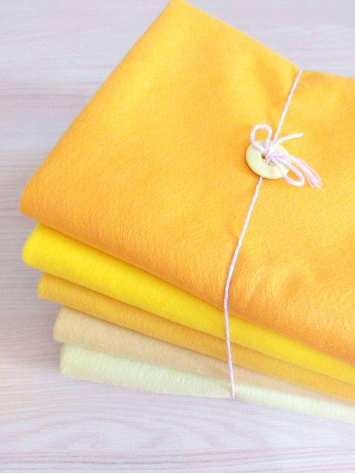 Kit Feltro Amarelos