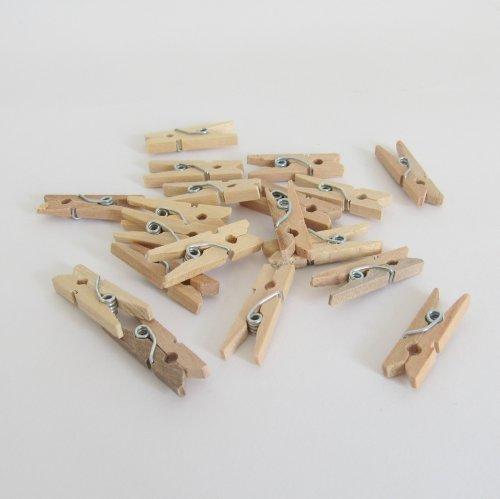 Mini Pregador Madeira - 5 Unidades