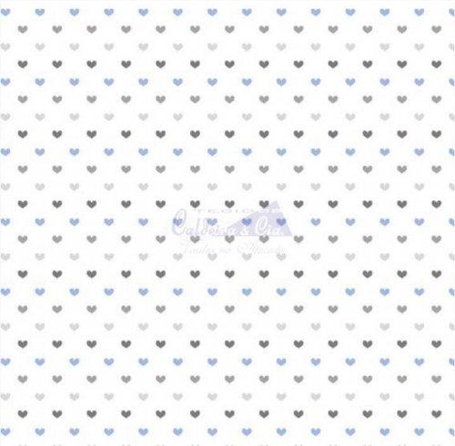 Tricoline - Amor Azul com Cinza