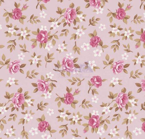 Tricoline - Floral Lúcia Rosa