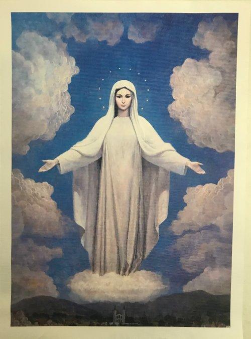 Tela para Quadro de Nossa Senhora Rainha da Paz - da Igreja de São Tiago