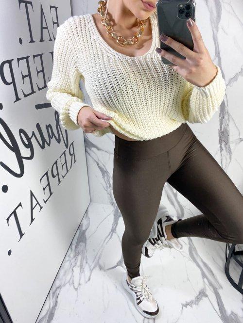 Legging marrom, Não Fica Transparente