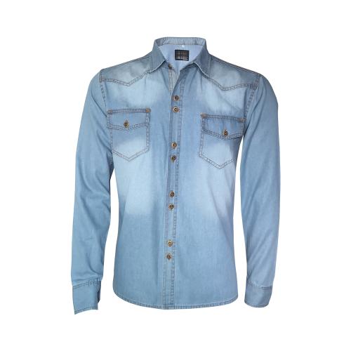 Camisa Jeans Masculina dd71f586f3b