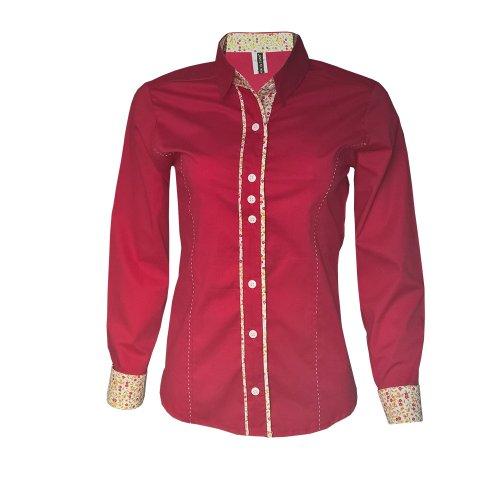 Camisa Social Feminina Vermelha 35014c5ffc91c