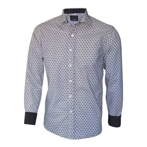 78311938c Camisa Social Masculina Estampada