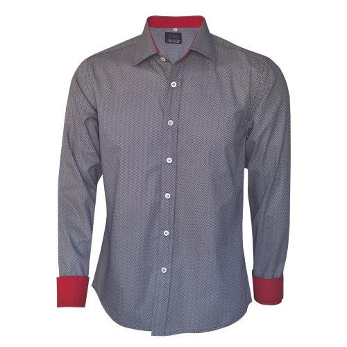 137cc9d1d8 Camisa Social Masculina Slim Fit Cinza