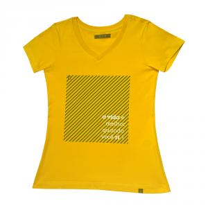 Camiseta Feminina Rota do Mar Amarela