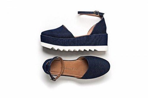 Sandália Plataforma Jeans no Atacado