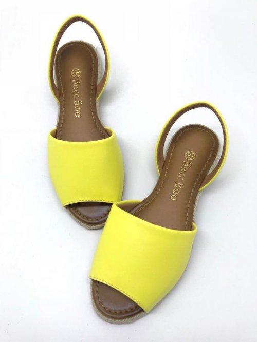 Sandália Rasteira Avarca Amarelo