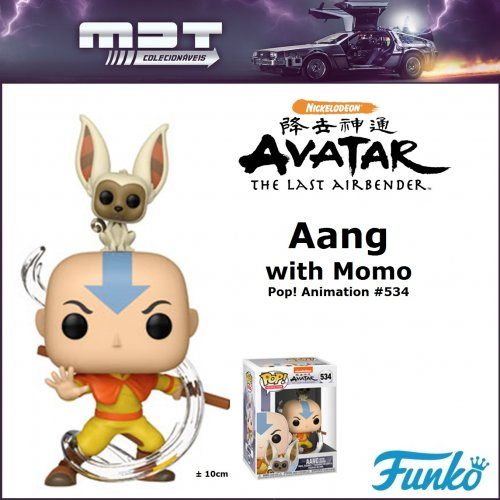 Funko Pop - Avatar - Aang with Momo #534